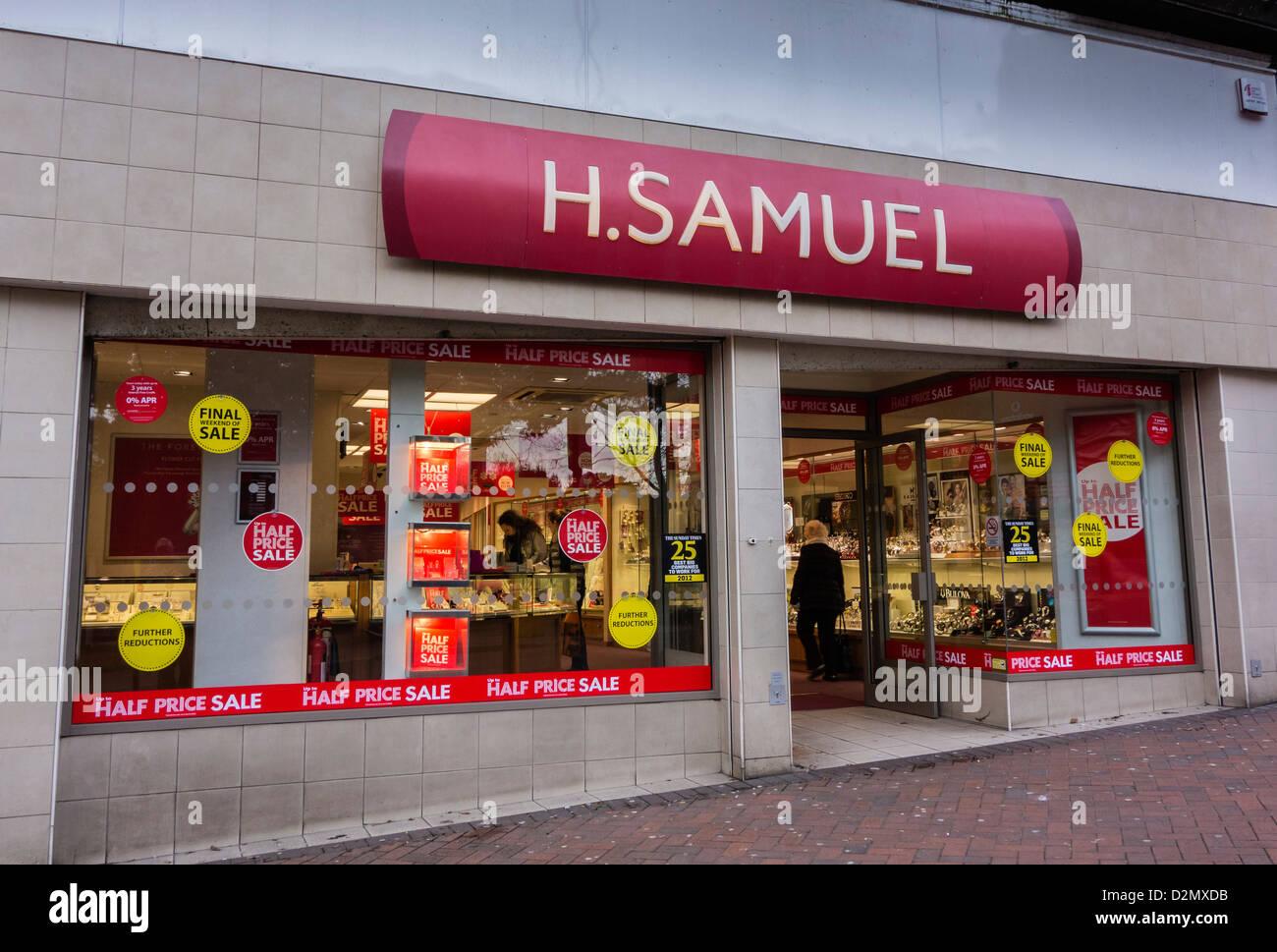 H.Samuel, Shopfront Entrance, Bournemouth, Dorset, England, UK. Europe - Stock Image