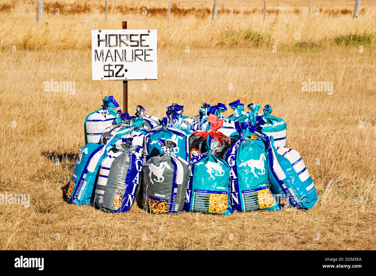 Ballarat Australia / Bags Of Horse Manure For Sale For Use As Garden  Fertilizer In Victoria Australia.