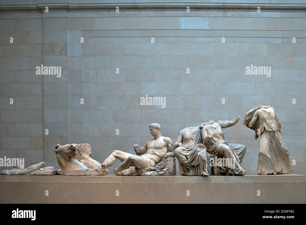Sculptures from the East Pediment, Parthenon, British Museum, London, England, UK, GB, British Isles - Stock Image