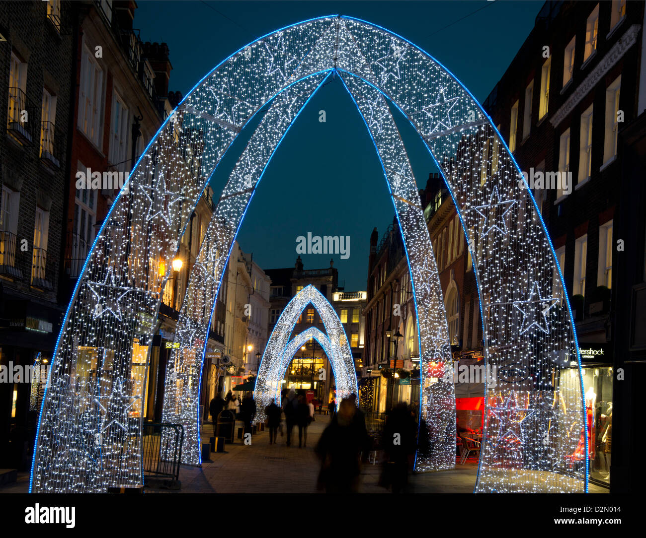 Christmas Lights On South Molton Street, London, England