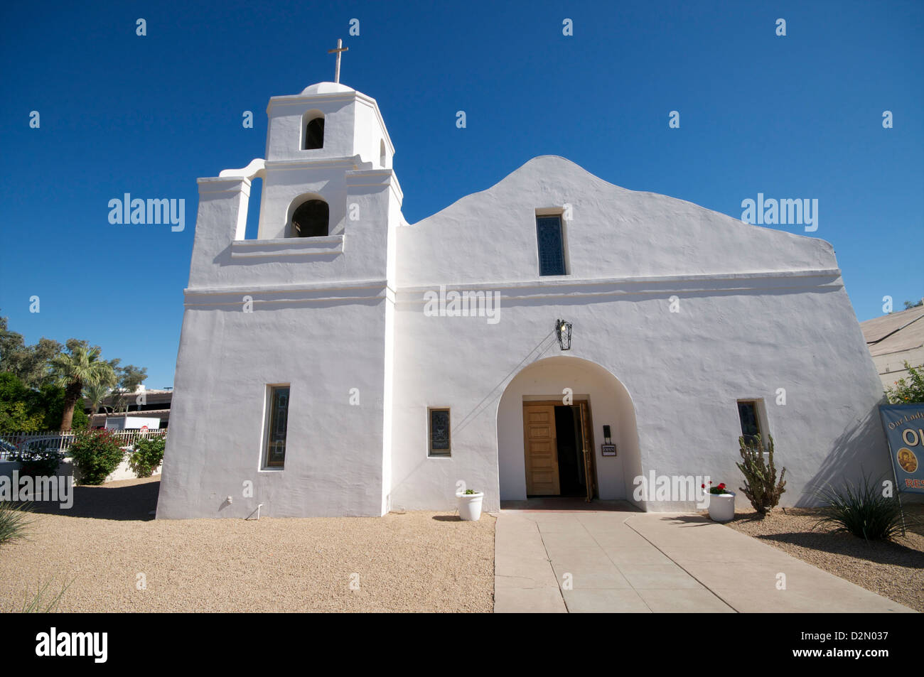 Our Lady of Perpetual Help Mission Church, Scottsdale, near Phoenix, Arizona, United States of America, North America - Stock Image