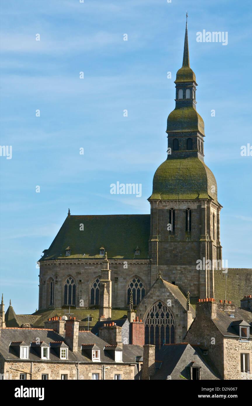 St. Sauveur Basilica, flamboyant gothic, Dinan, Brittany, France, Europe - Stock Image