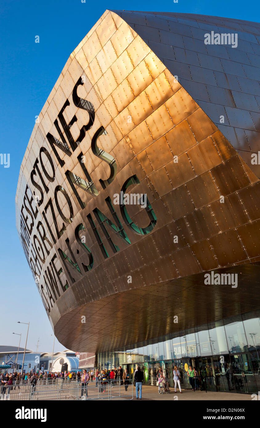 Wales Millennium Centre, Cardiff Bay, Cardiff, South Glamorgan, Wales, United Kingdom, Europe - Stock Image