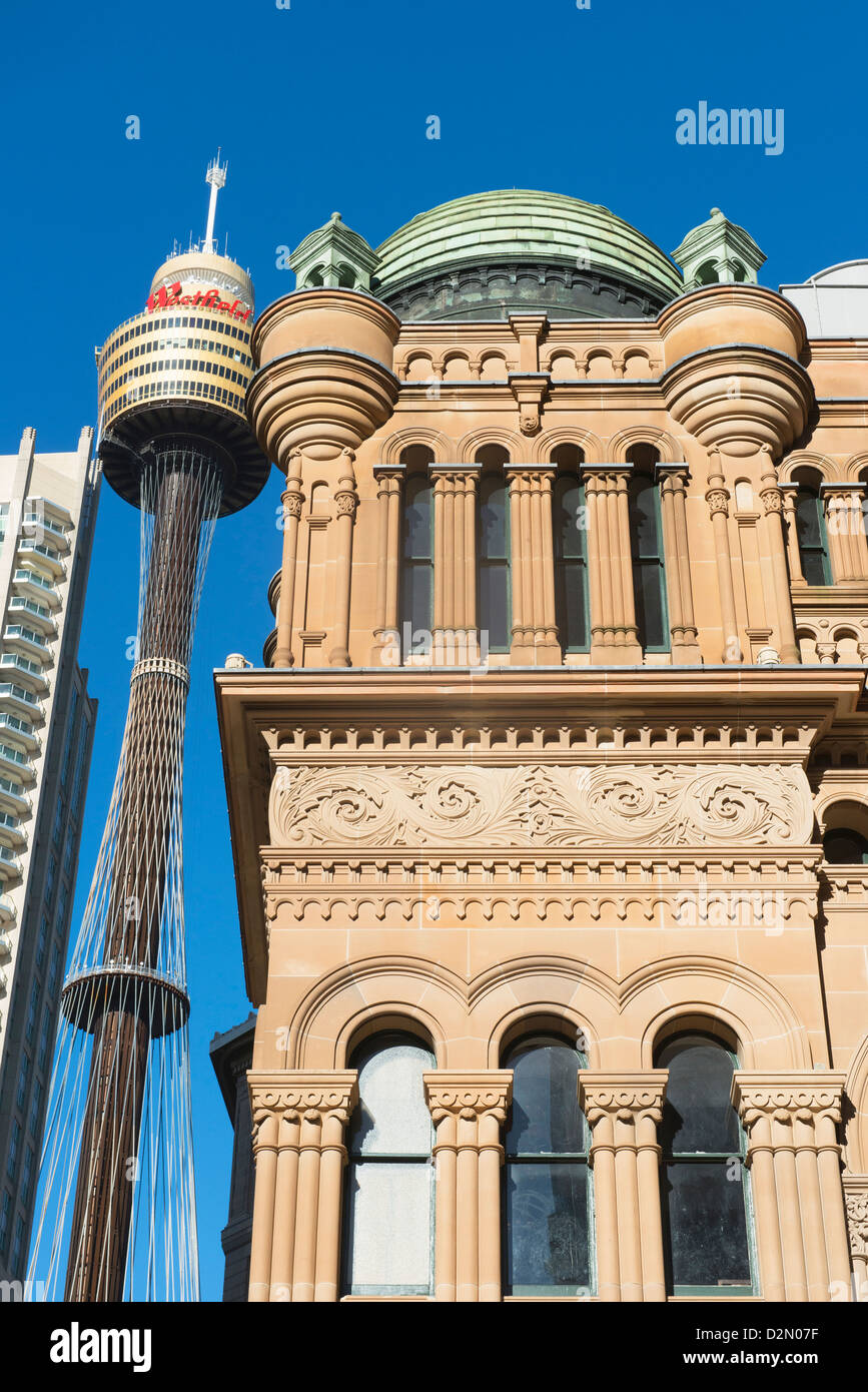 Sydney Tower, Sydney, New South Wales, Australia, Pacific - Stock Image