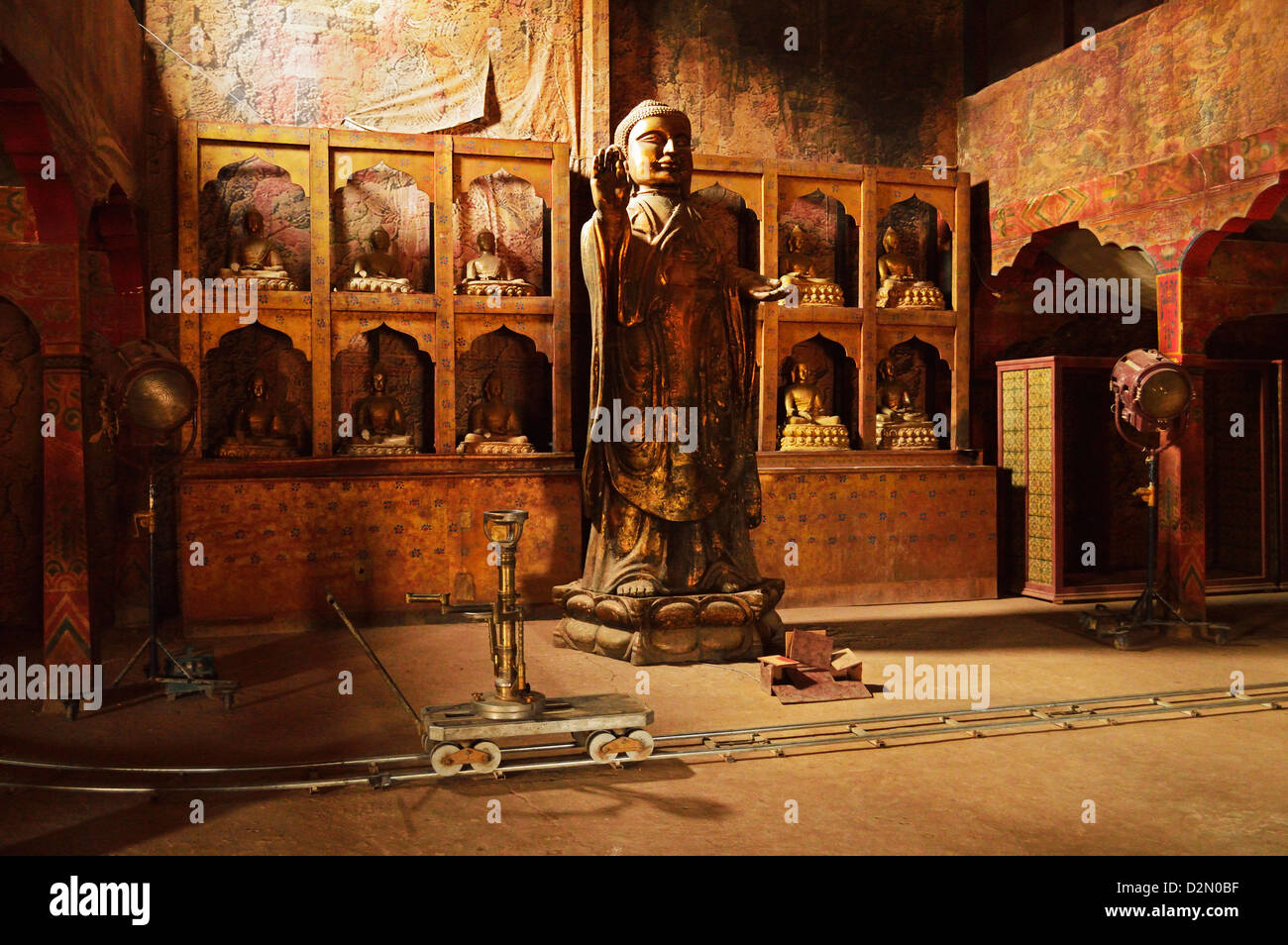 Movie set, Atlas Studios, Ouarzazate, Morocco, North Africa, Africa - Stock Image