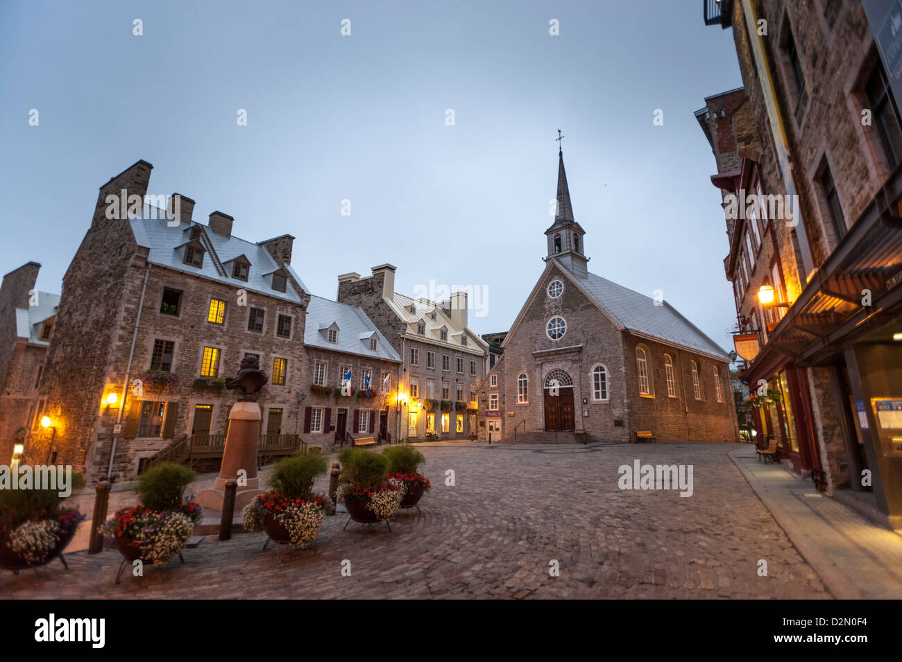 Place Royale, Quebec City, Province of Quebec, Canada, North America - Stock Image