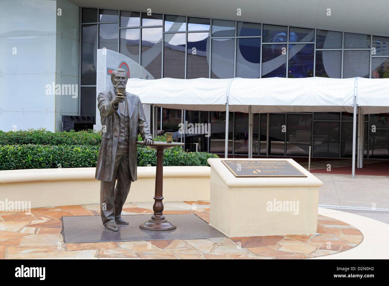 Dr. John Pemberton statue, World of Coca Cola, Pemberton Park, Atlanta, Georgia, United States of America, North - Stock Image
