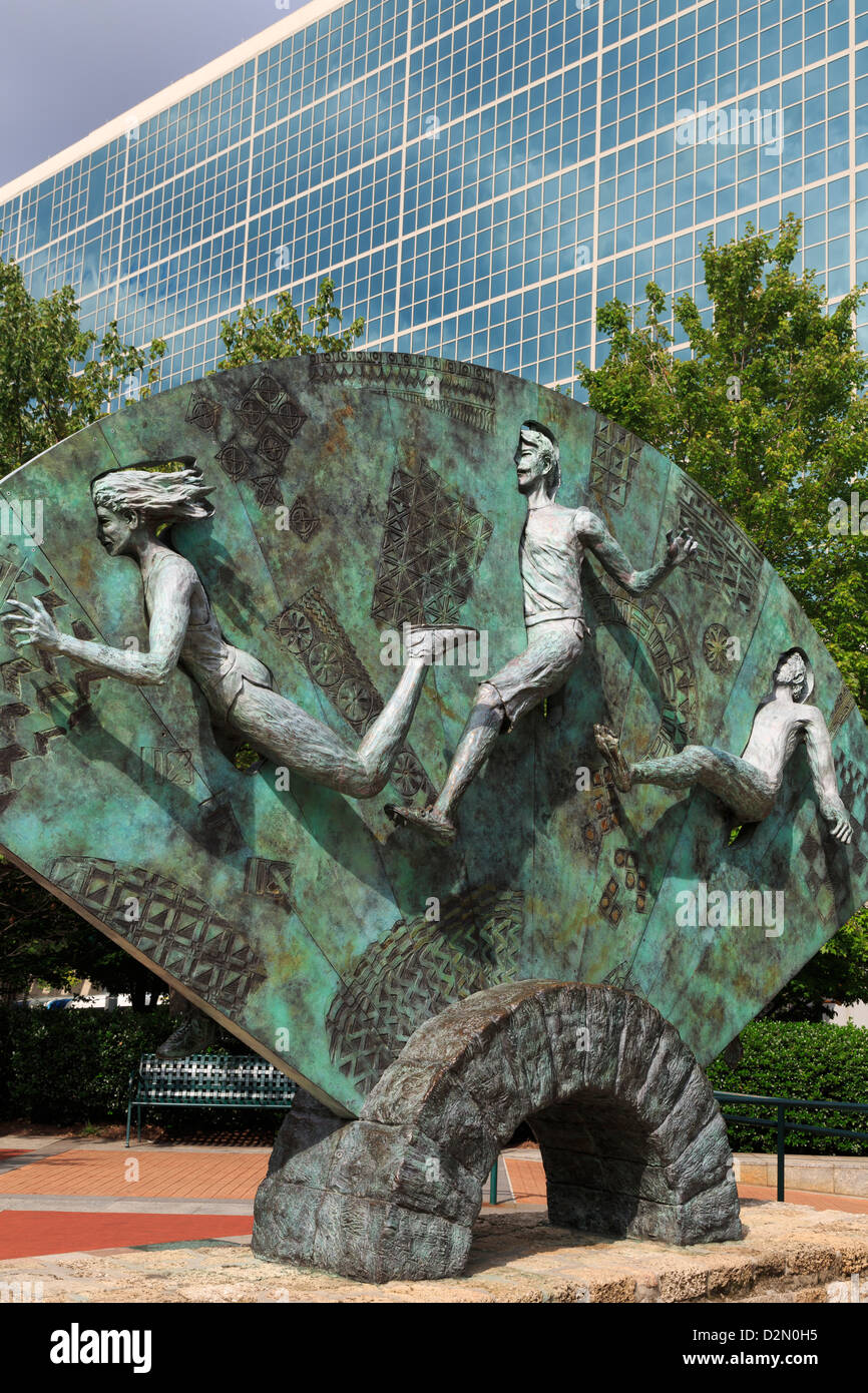 Tribute sculpture by P. Greer, Centennial Olympic Park, Atlanta, Georgia, United States of America, North America - Stock Image