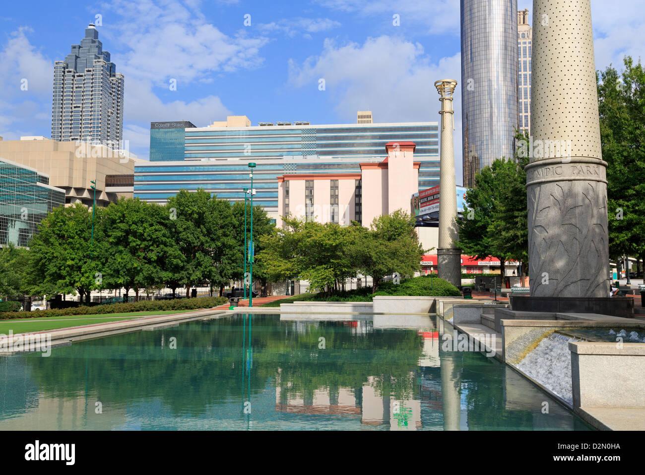 Centennial Olympic Park, Atlanta, Georgia, United States of America, North America - Stock Image