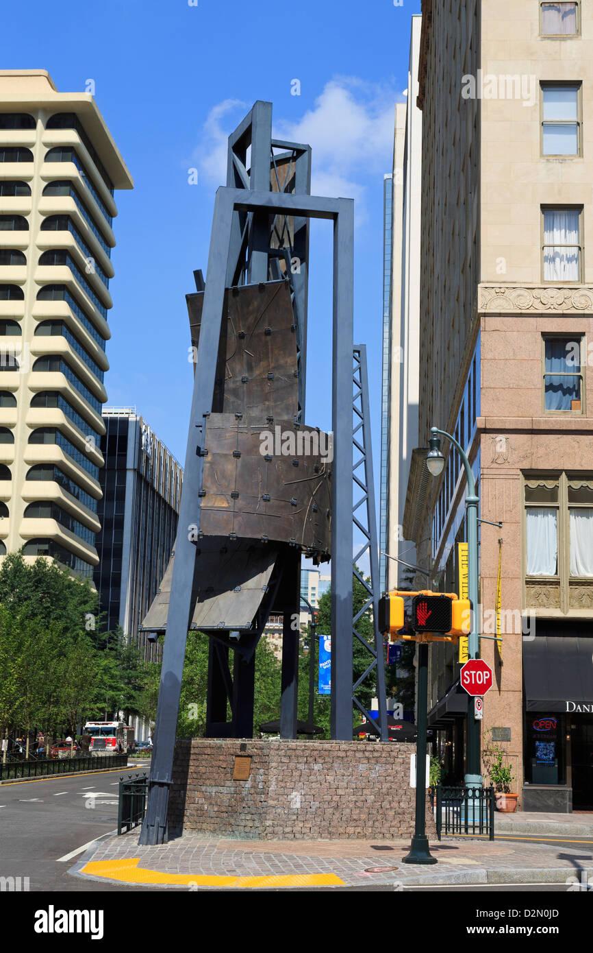 Five Points Monument, Atlanta, Georgia, United States of America, North America - Stock Image