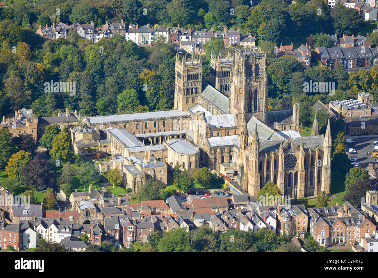 Aerial photograph of Durham Cathedral Stock Photo