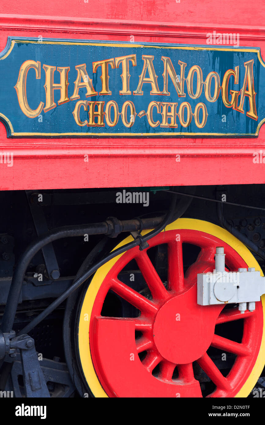 Locomotive at the Chattanooga Choo Choo, Chattanooga, Tennessee, United States of America, North America - Stock Image