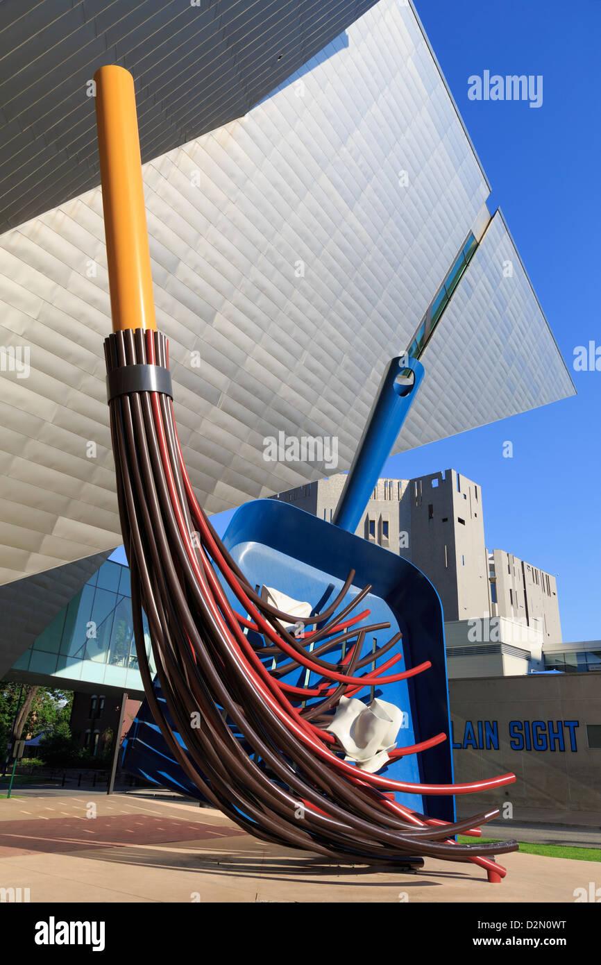 Big Sweep sculpture by Claes Oldenburg, Denver Art Museum, Denver, Colorado, United States of America, North America - Stock Image