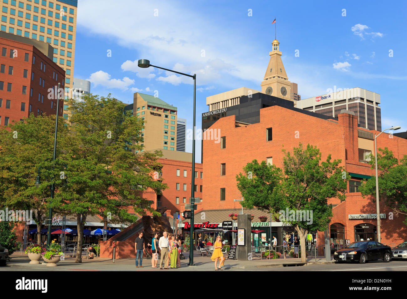 Writers Square on 16th Street Mall, Denver, Colorado, United States of America., North America - Stock Image