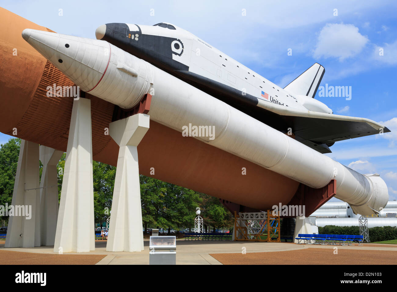 Space Shuttle at the United States Space and Rocket Center, Huntsville, Alabama, United States of America, North - Stock Image