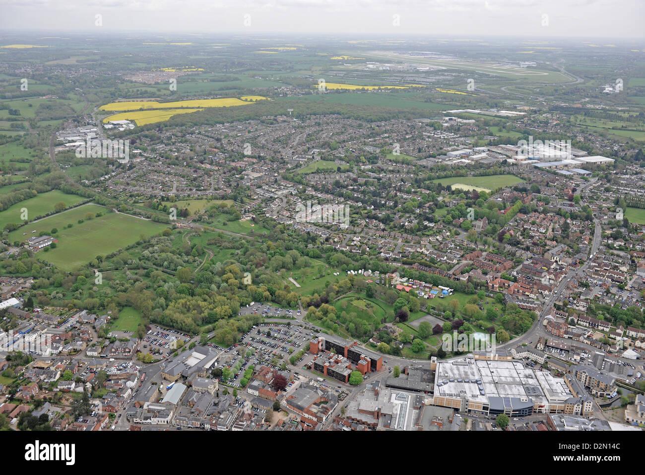 Aerial photograph of Bishops Stortford Stock Photo