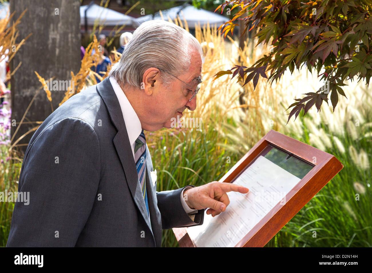 Gualtiero Marchesi, renowned Italian chef. - Stock Image