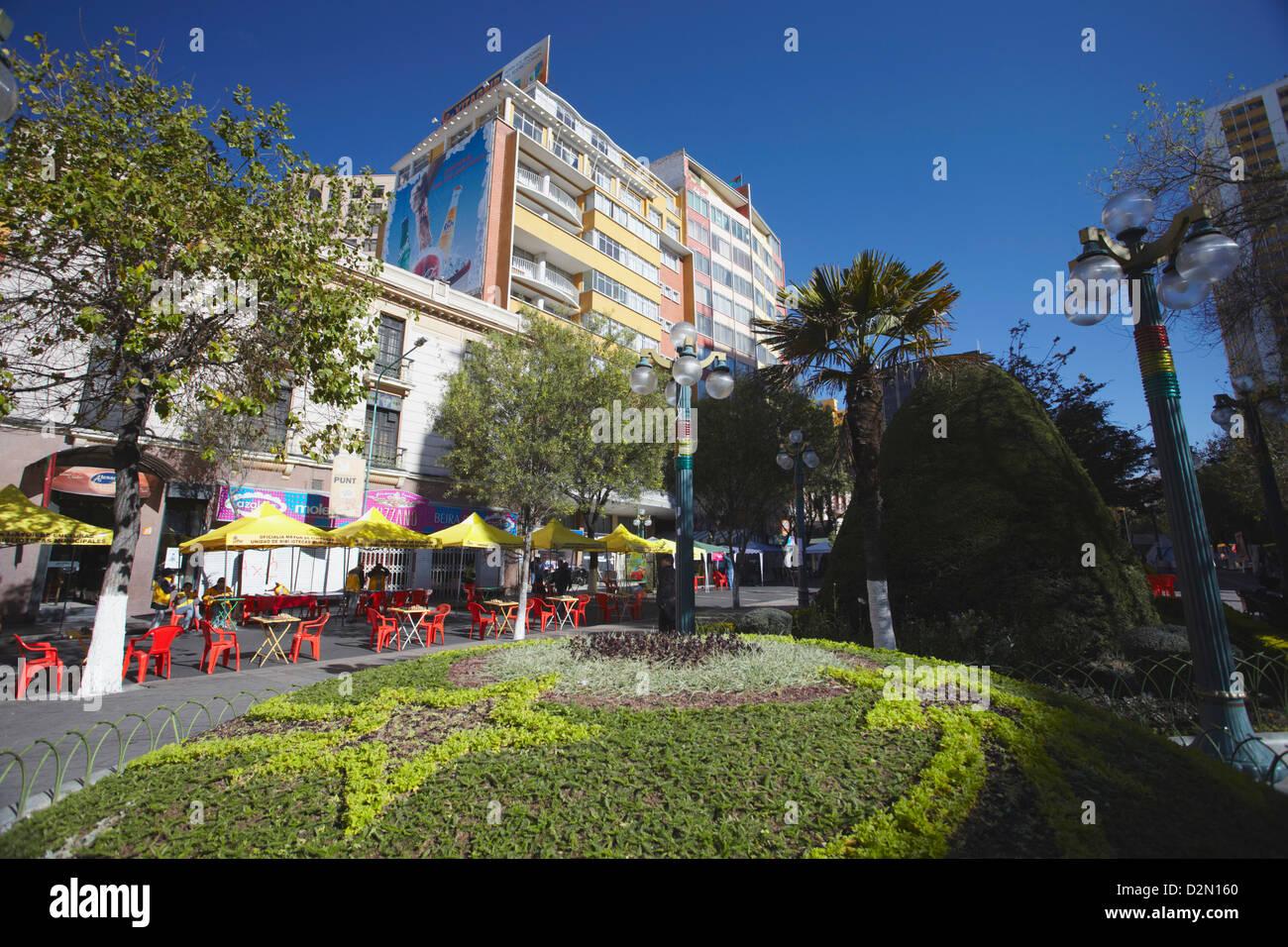 Avenida 16 de Julio (El Prado), La Paz, Bolivia, South America - Stock Image