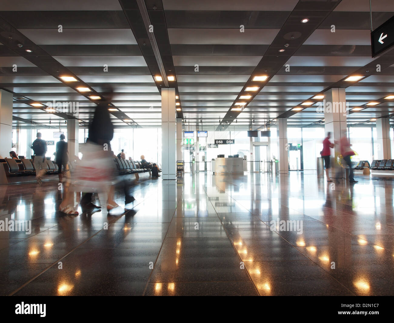 Waiting Area, Zurich airport, Zurich, Switzerland, Europe - Stock Image