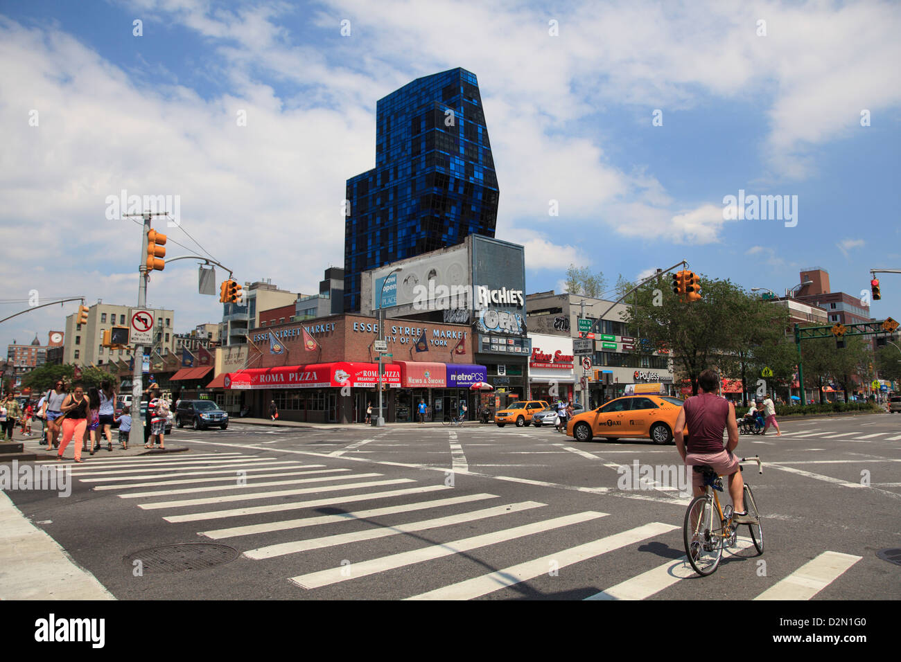 Blue Building, Luxury Apartment Building, Delancey Street, Lower East Side,  Manhattan, New York City, USA