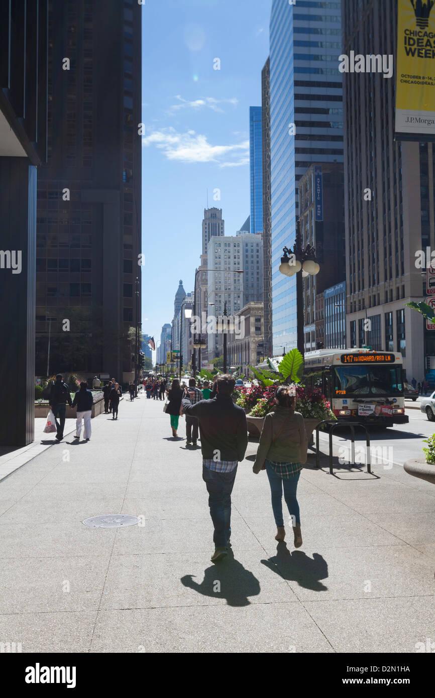 North Michigan Avenue, Chicago, Illinois, United States of America, North America Stock Photo