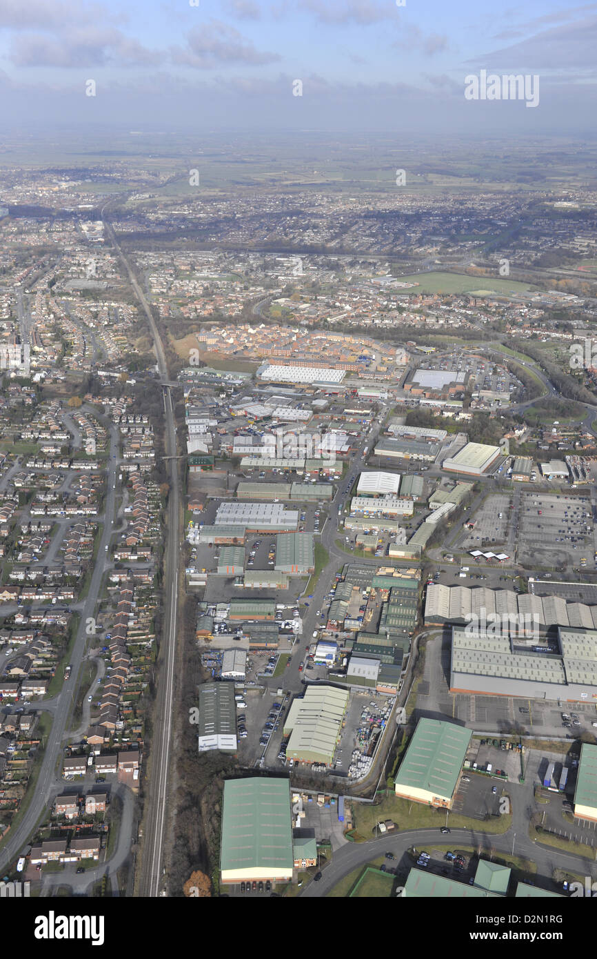 Aerial photograph of Tame Valley Industrial Estate Tamworth - Stock Image