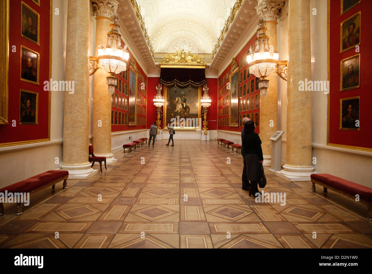 The Gallery of the Patriotic War of 1812, Hermitage Museum, St. Petersburg, Russia, Europe - Stock Image