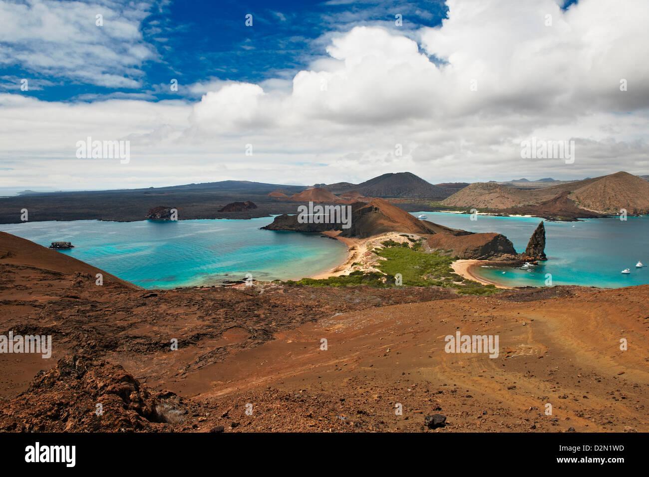 vulcanic landscape of Isla Bartolome, Galapagos Islands, Ecuador - Stock Image