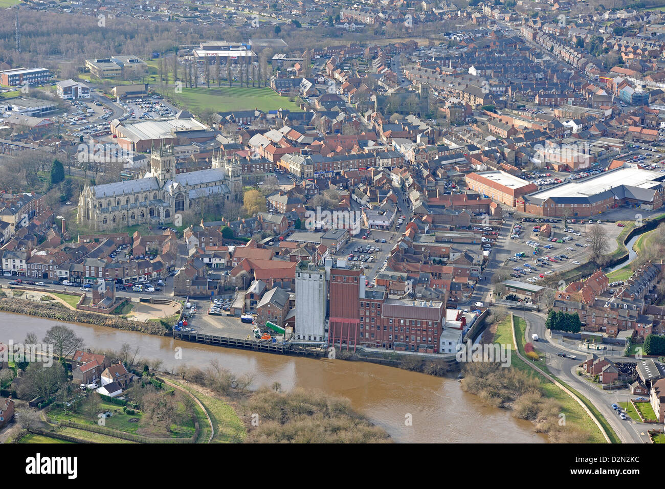 Aerial photograph of Selby - Stock Image