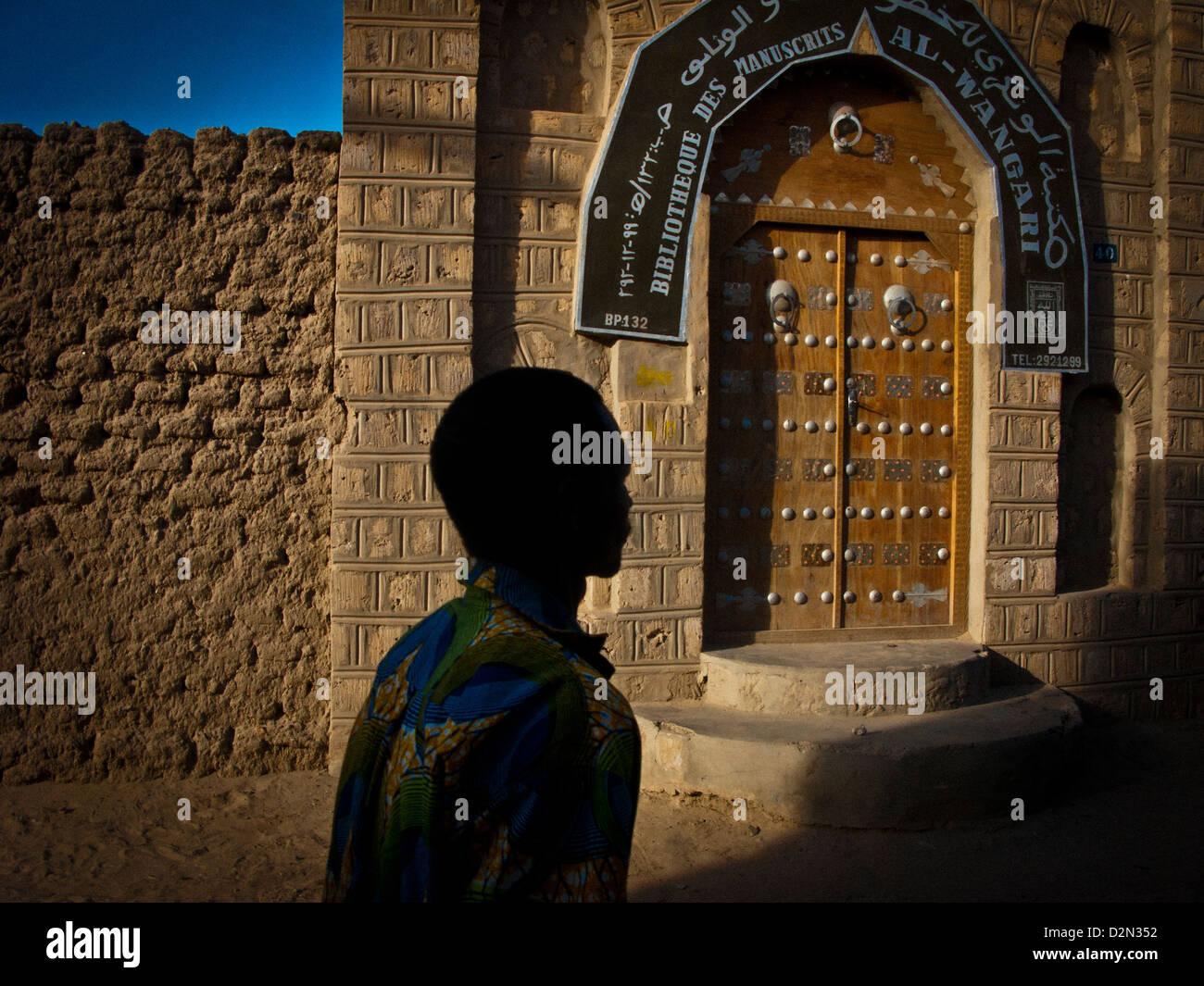 Bibliotheque des Manuscripts Al - Wangari.Timbuktu. Mali. - Stock Image
