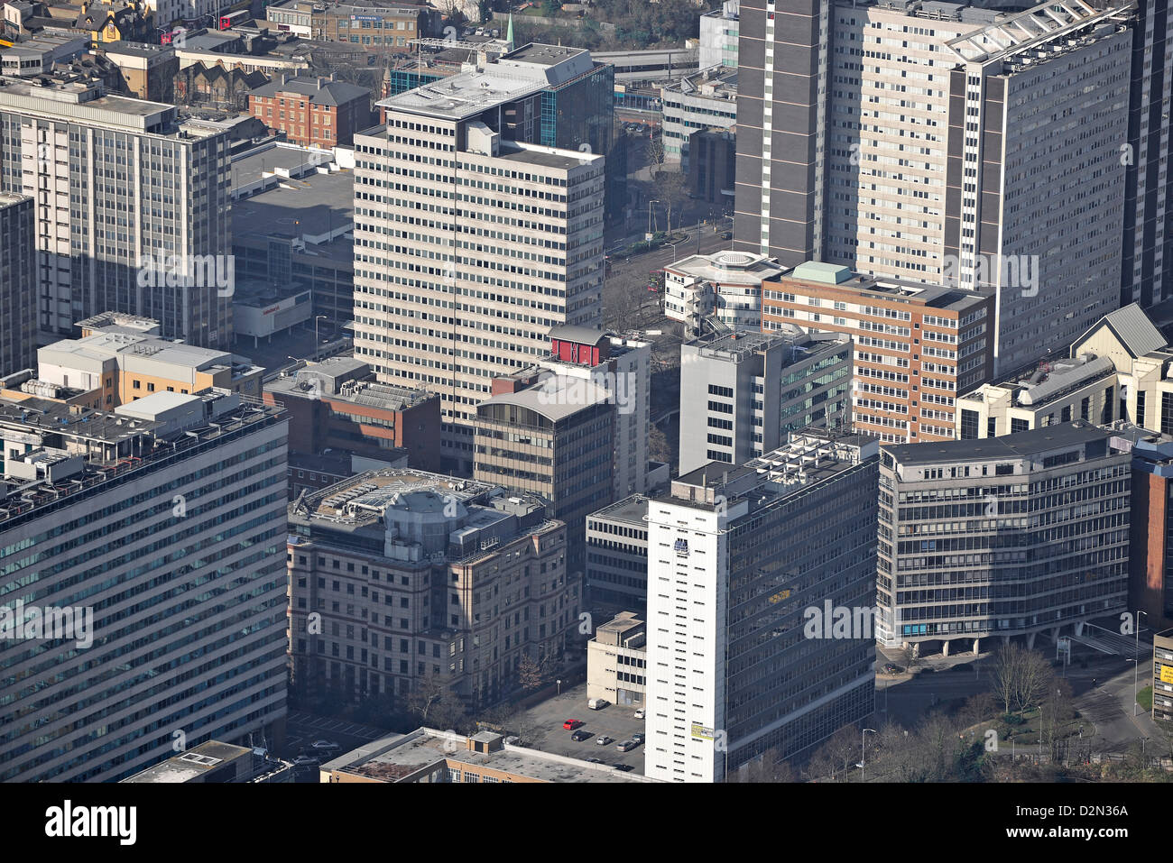 Aerial photograph of central Croydon - Stock Image