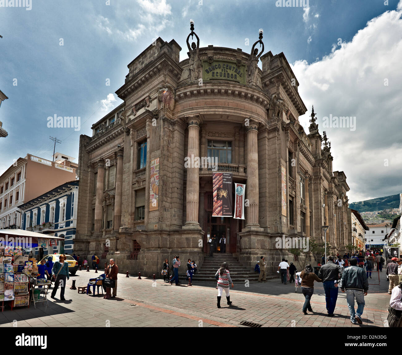 Banco Central del Ecuador or Central Bank, historical center of Quito, Ecuador Stock Photo