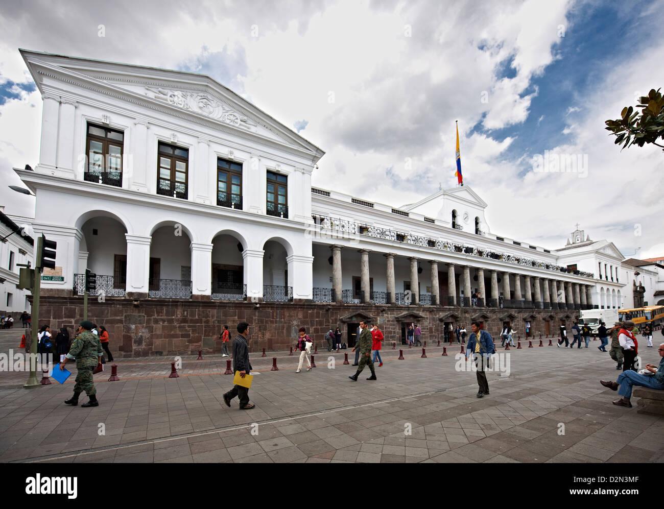 President House, historical center of Quito, Ecuador - Stock Image