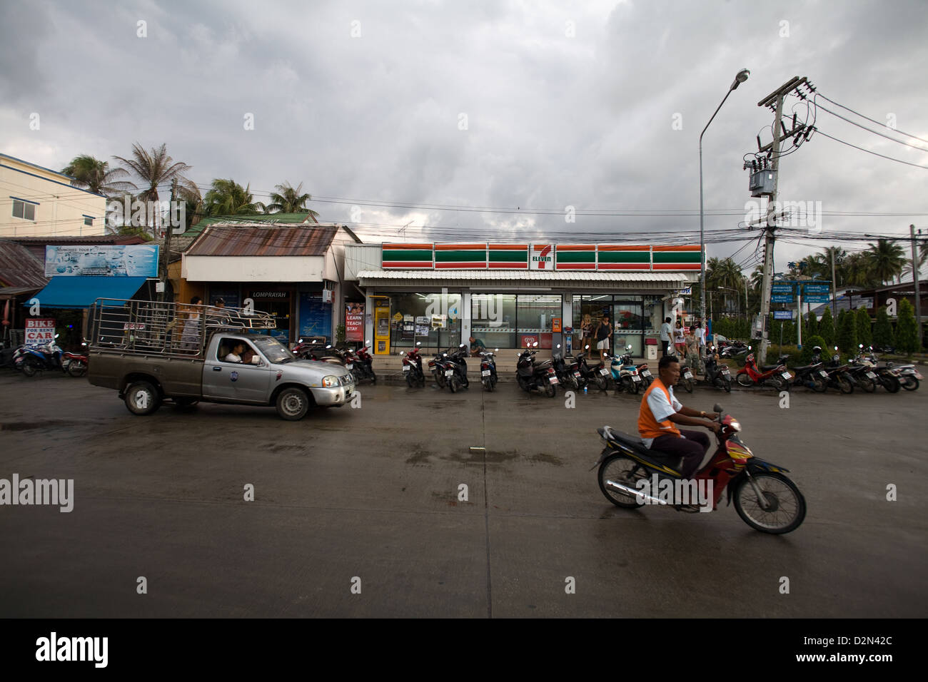 7 Eleven  shop in Thong Sala , Koh Phangan , Thailand - Stock Image