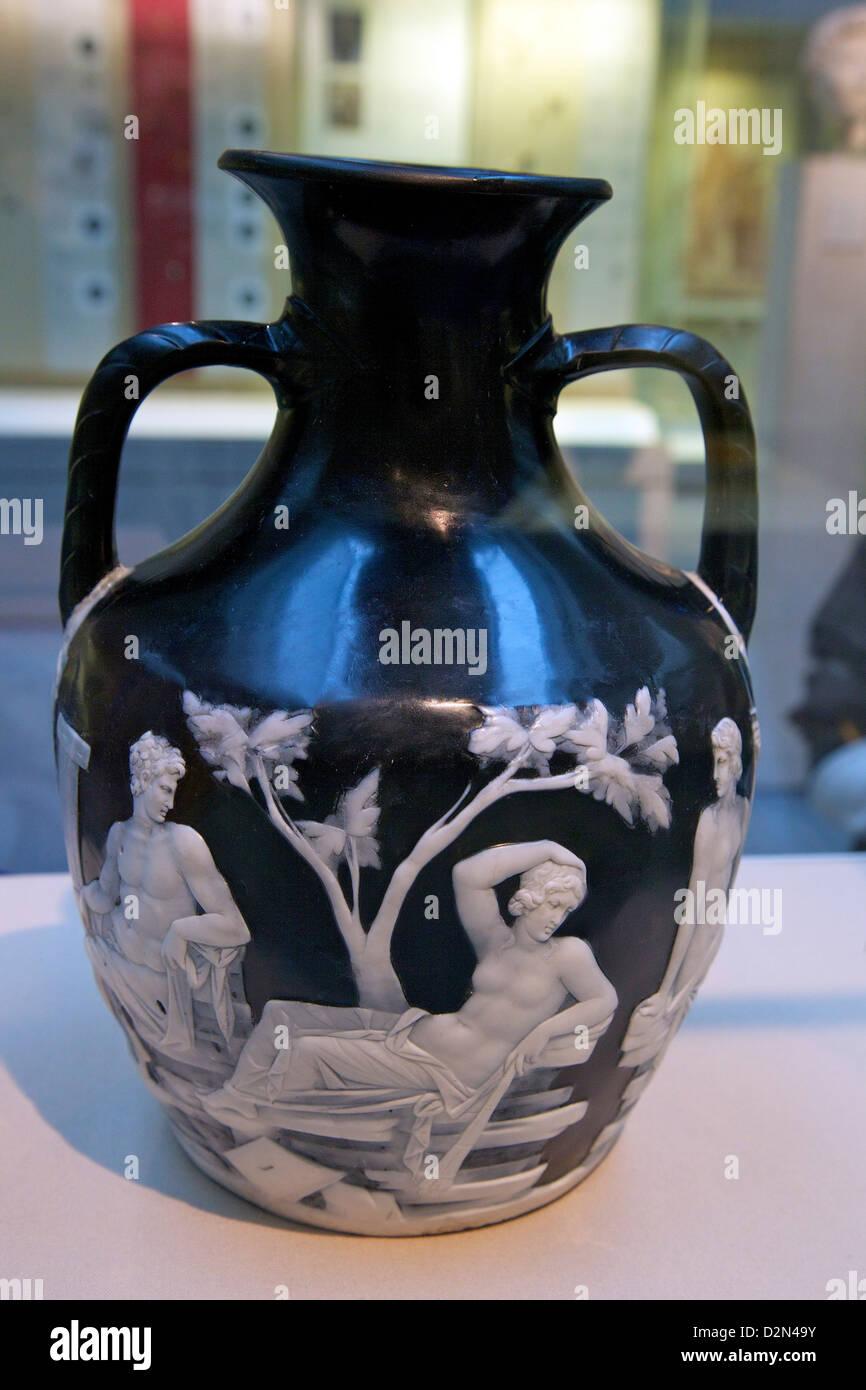 Portland Vase, cameo glass, circa 15 BC, British Museum, London, England, UK, GB, British Isles Stock Photo