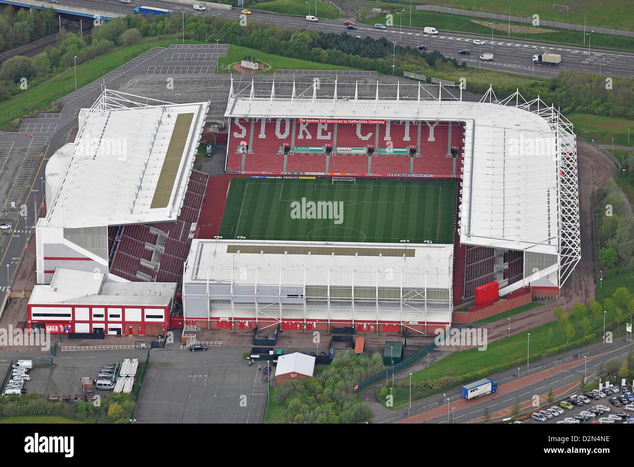 Aerial image of Stoke City's Britannia Stadium - Stock Image