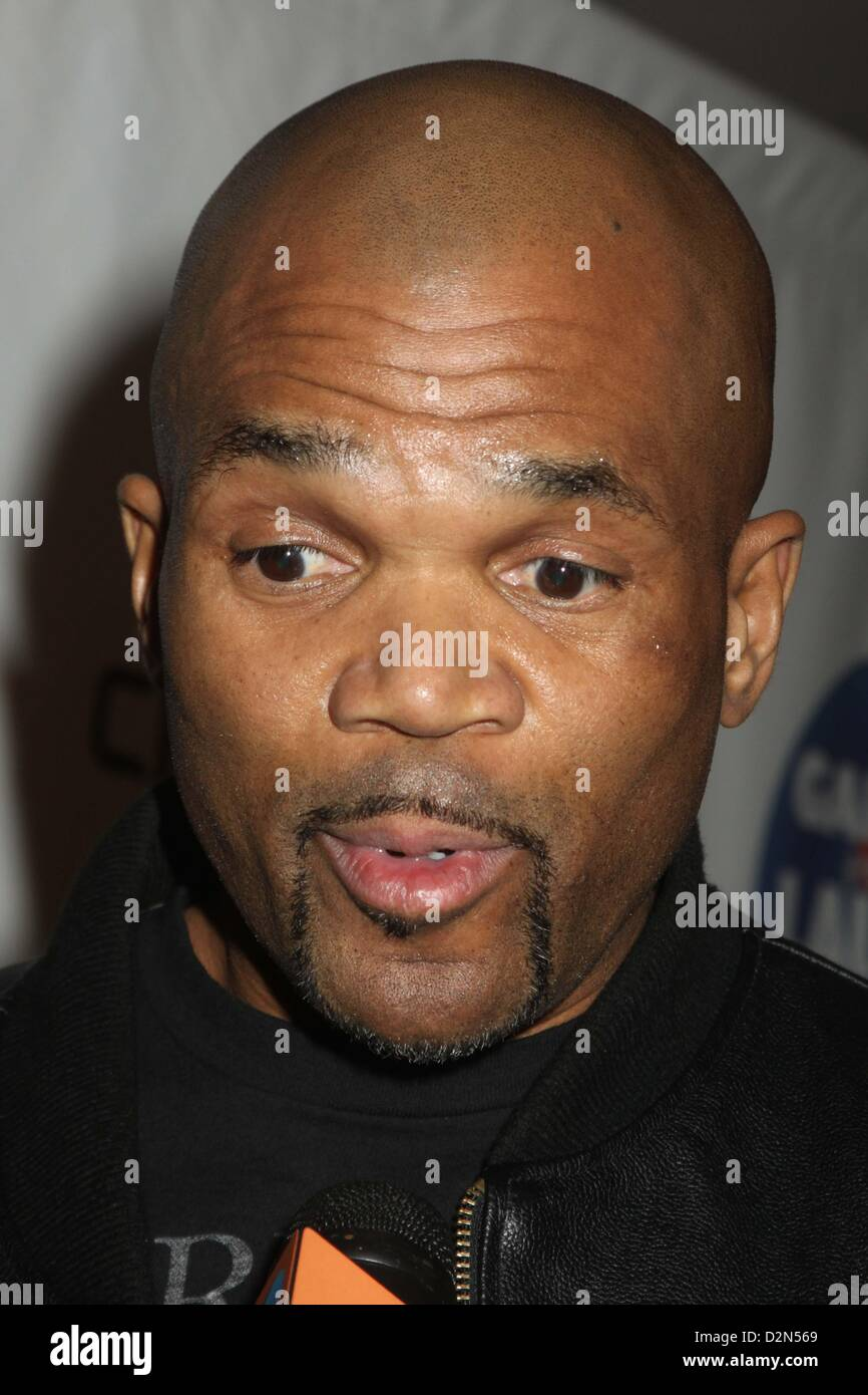 Jan. 26, 2013 - New York, New York, U.S. - DARRYL MCDANIELS ATTENDS GARDEN OF LAUGHS BENEFIT AT MADISON SQUARE GARDEN - Stock Image