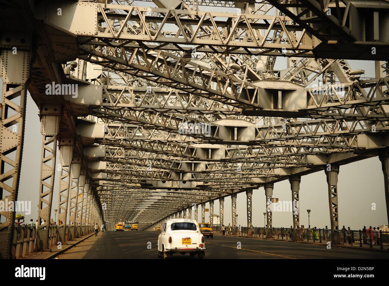 Howrah Bridge, Kolkata, West Bengal, India, Asia Stock Photo