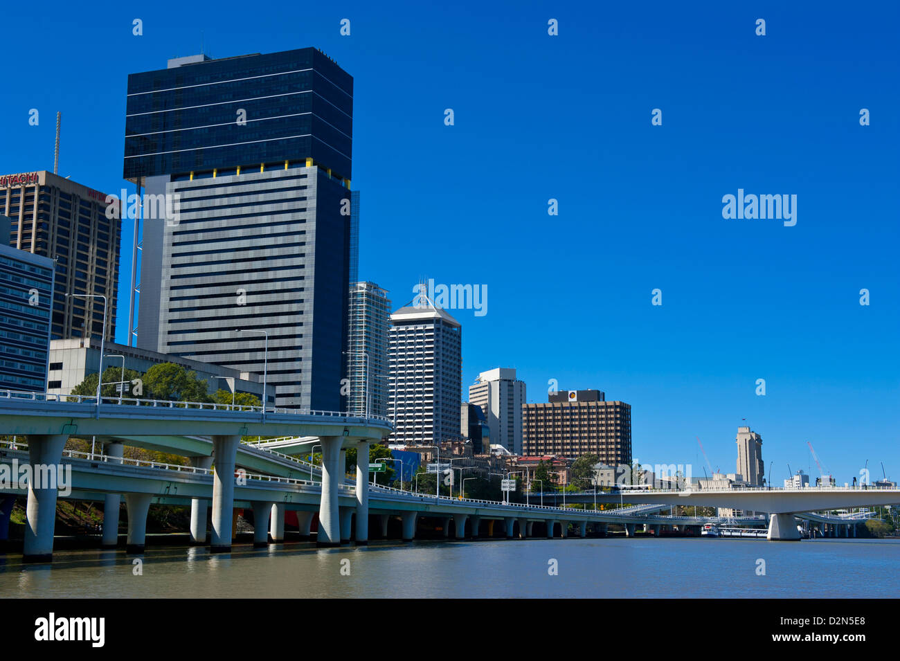 Downtown Brisbane with the Brisbane River, Queensland, Australia, Pacific - Stock Image