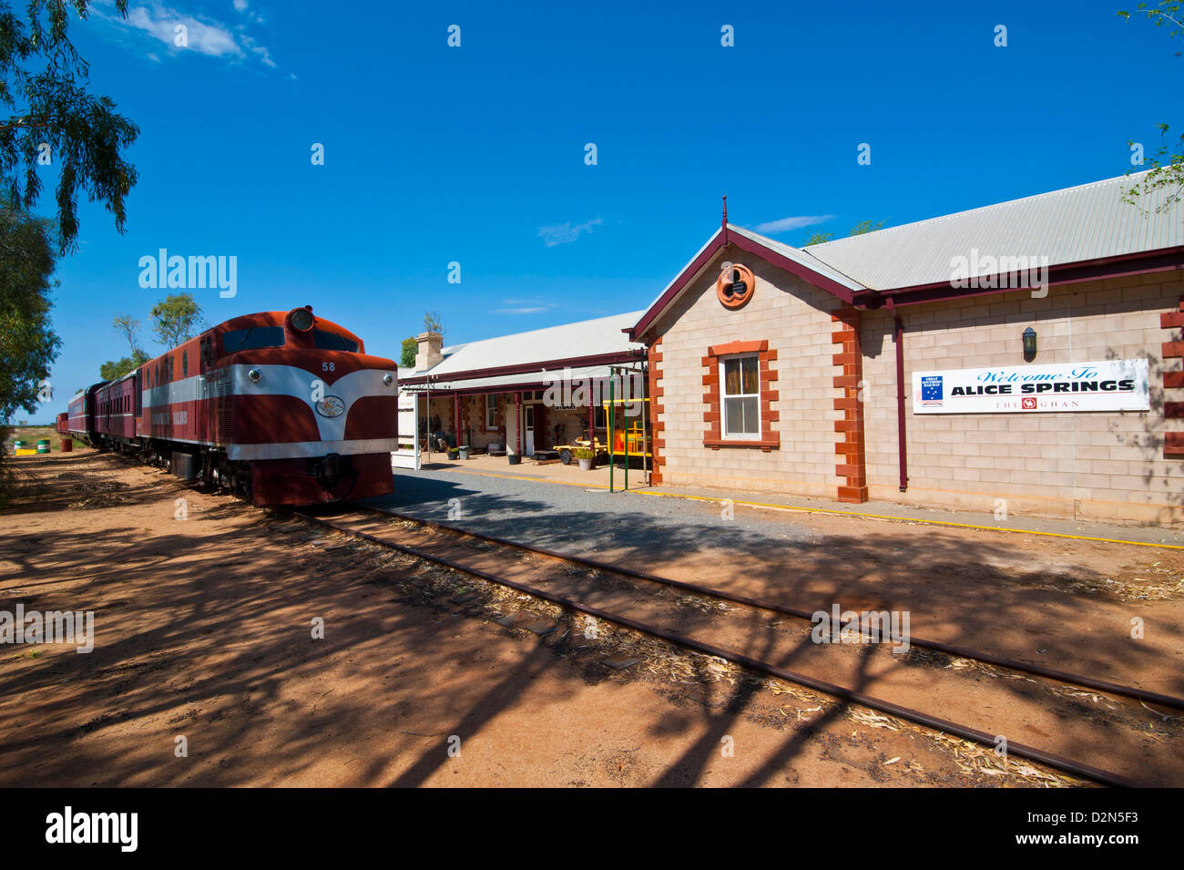 The Ghan in the Ghan Heritage Museum, Alice Springs, Northern Territory, Australia, Pacific - Stock Image
