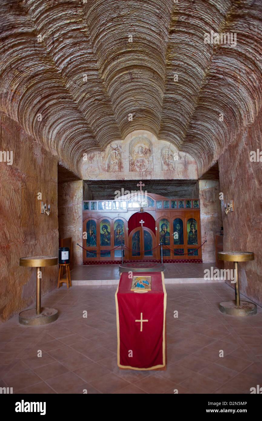 Underground church, Coober Pedy, South Australia, Australia, Pacific - Stock Image