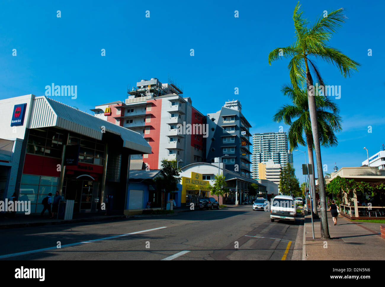 Business district of Darwin, Northern Territory, Australia, Pacific - Stock Image