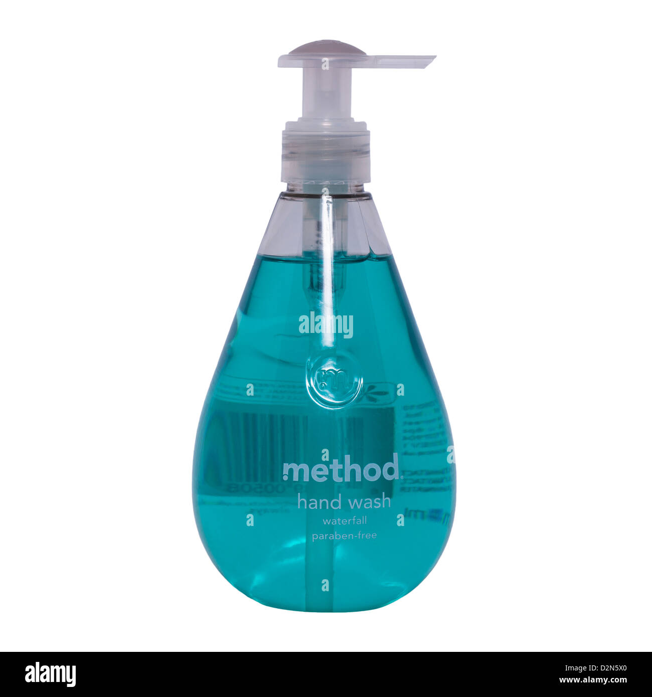 A bottle of method hand wash on a white background - Stock Image