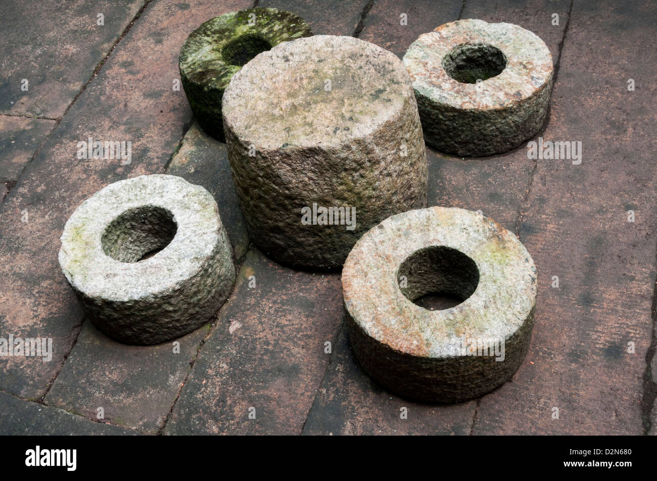 Grinding stone - Ancient utensils used in kerala - Stock Image