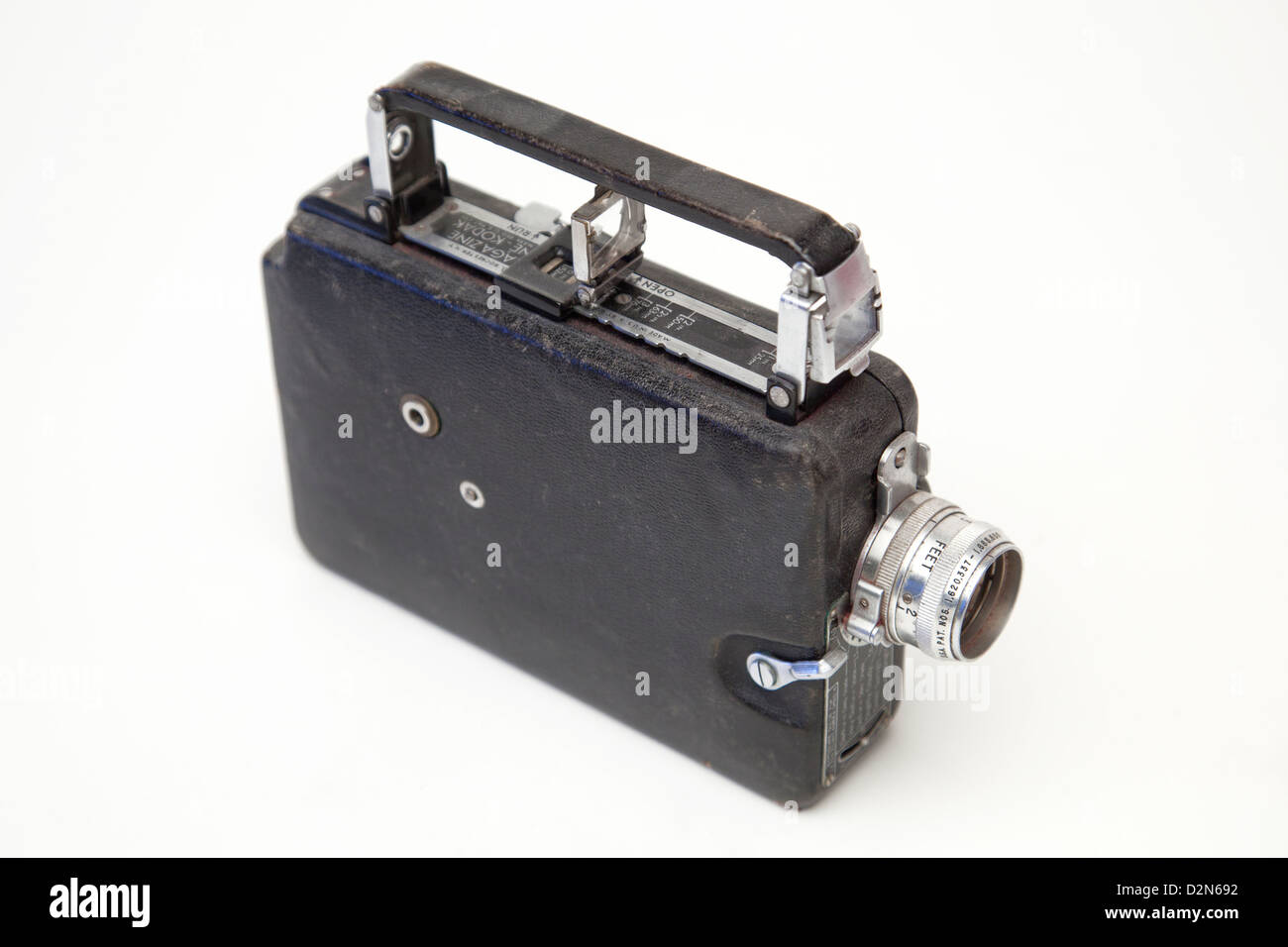 Studio Shot of a Vintage Kodak Eastman Magazine Cine Camera - Stock Image