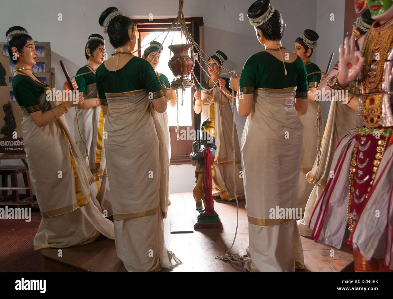 Uripinni kali  -  folk art performed in kerala - Stock Image