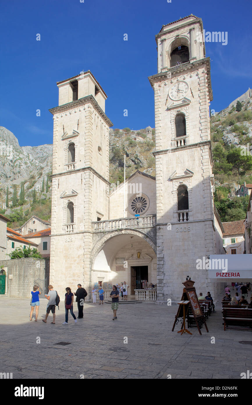 St. Nicholas Serbian Orthodox Church, Old Town, Kotor, UNESCO World Heritage Site, Montenegro, Europe - Stock Image