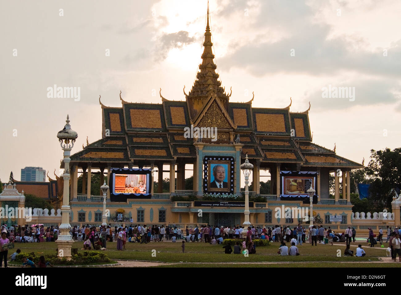 King Norodom Sihanouk death Stock Photo