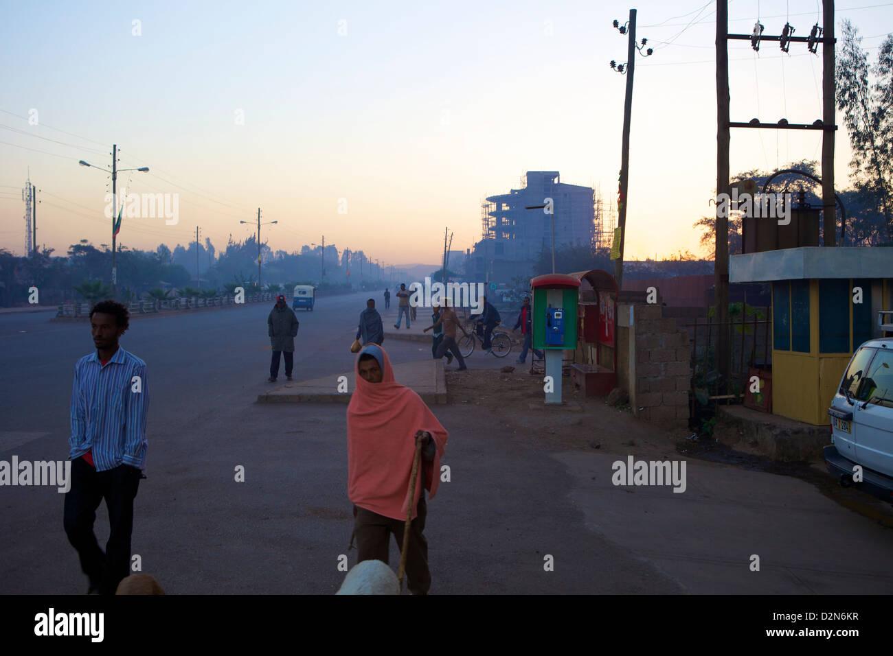 Early morning, Bahir Dar, Ethiopia, Africa - Stock Image