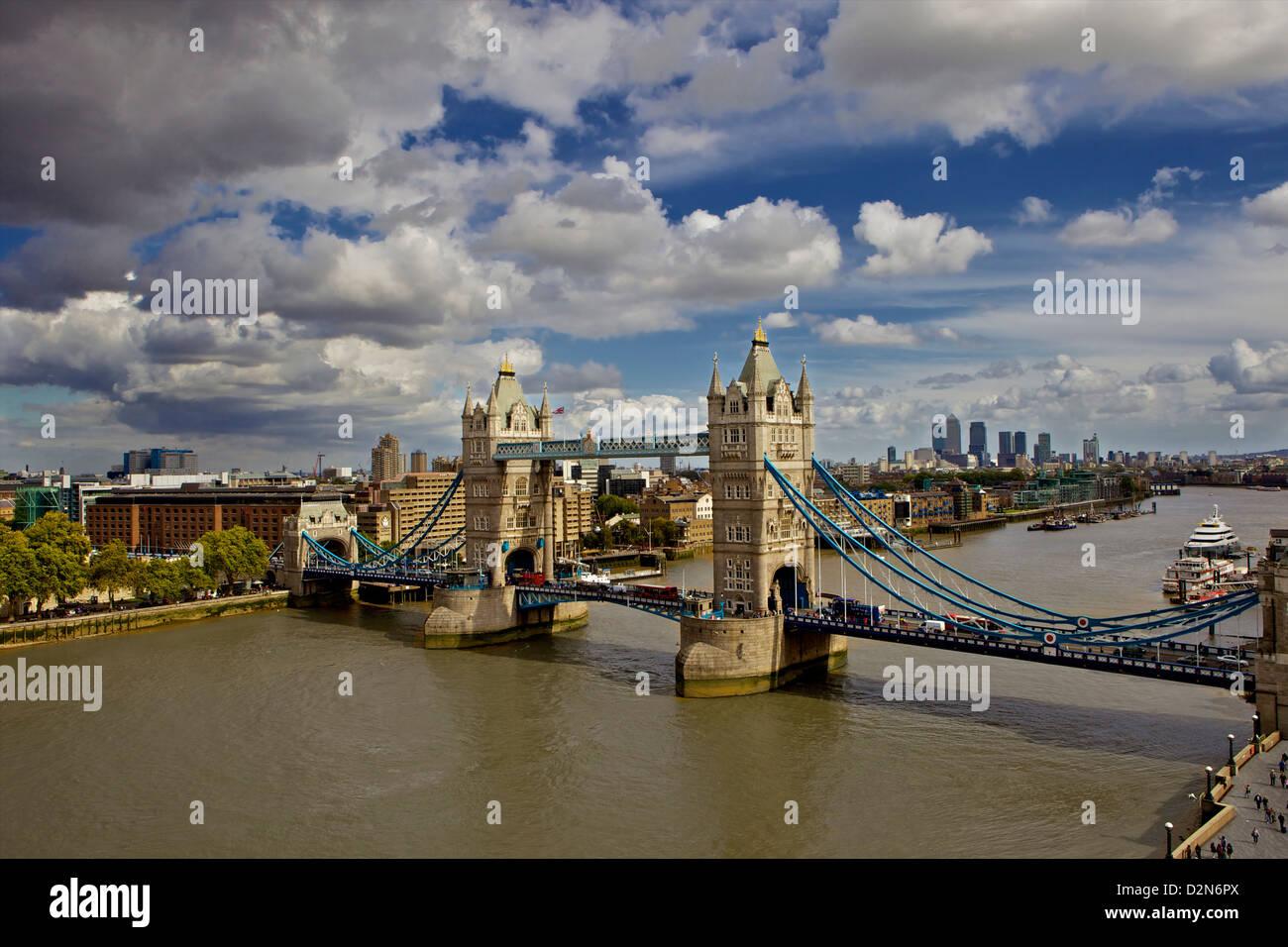 Tower Bridge London, England, United Kingdom, Europe - Stock Image